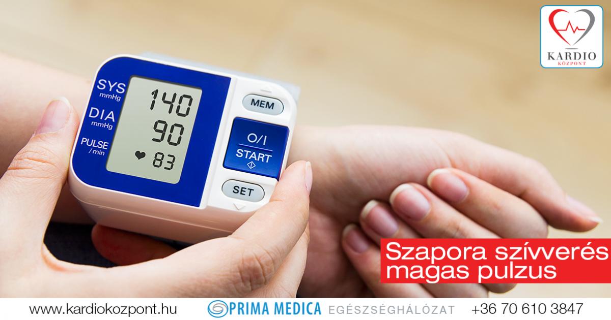 magas pulzus alacsony vérnyomás magas vérnyomás