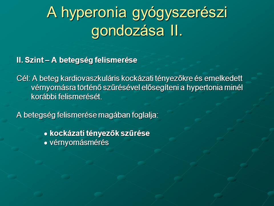 hipertónia szűrése