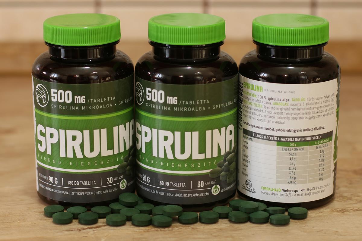 spirulina magas vérnyomás esetén