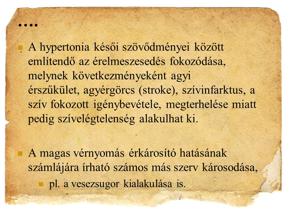 fokozott szív hipertónia)