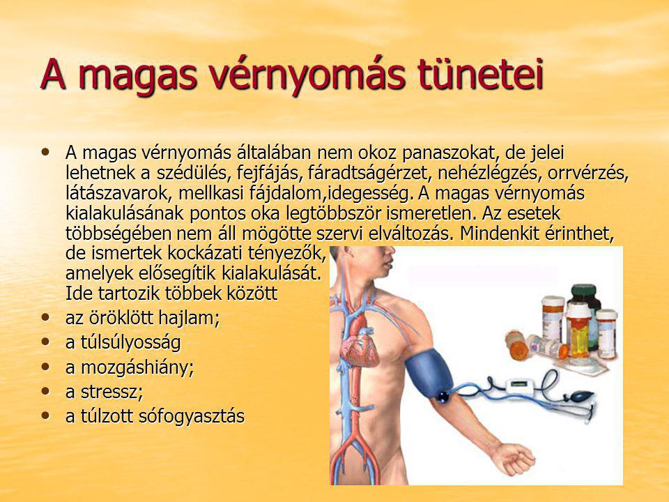 hipertónia tüneteinek kialakulása)