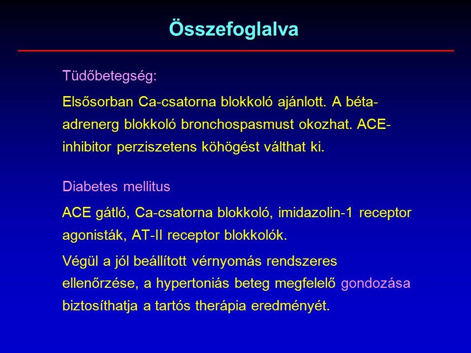 magas vérnyomás adrenerg agonistája