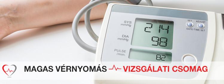 milyen vizsgálatokat írnak elő magas vérnyomás esetén)
