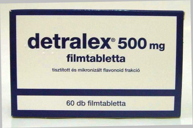 A hipertónia Detralex alkalmazása)