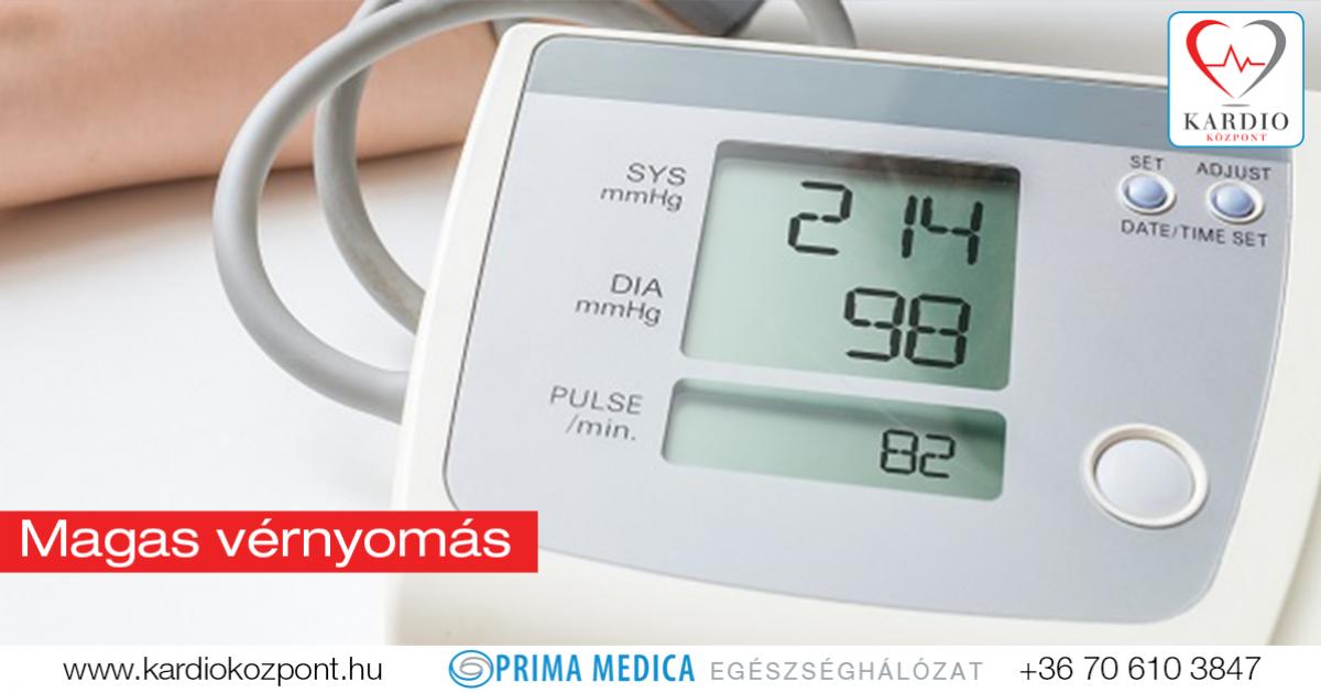 magas vérnyomás kezelési program