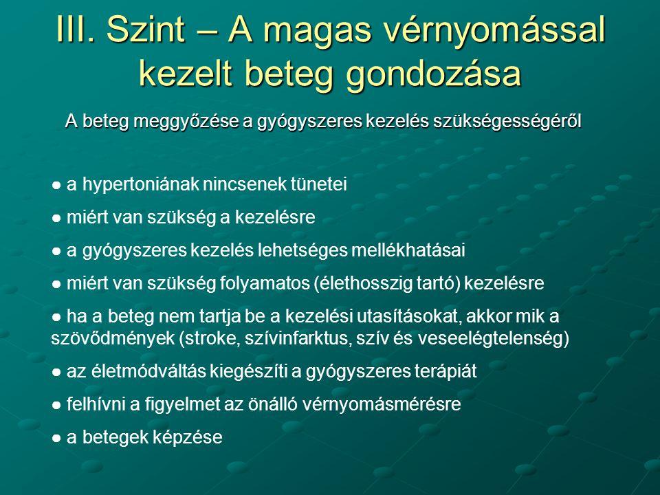 magas vérnyomás terápia kiválasztása)