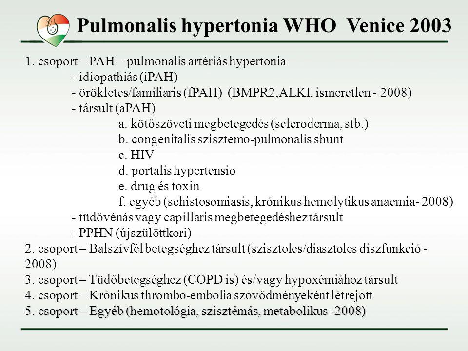 pulmonalis hipertónia okozza)